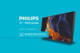 Philips75' 300candele marketingdisplay